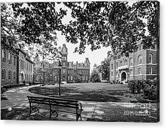 West Virginia University Woodburn Circle Acrylic Print by University Icons