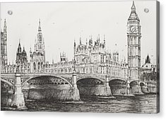 Westminster Bridge Acrylic Print by Vincent Alexander Booth