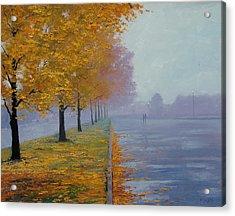 Wet Autumn Day Acrylic Print by Graham Gercken