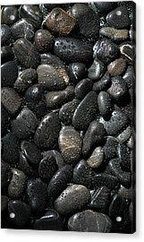 Wet River Rocks  Acrylic Print by Michael Ledray