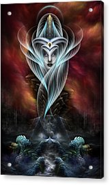 What Dreams Are Made Of Fractal Art Portrait Acrylic Print by Xzendor7