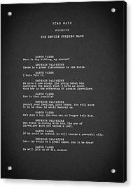 What Is Thy Bidding Acrylic Print by Mark Rogan
