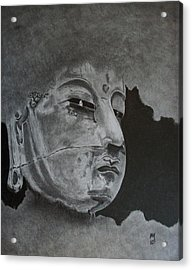What Is Your Original Face Acrylic Print by Nick Young