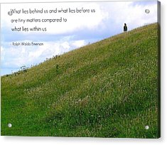 What Lies Behind And Before Acrylic Print by Jen White