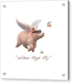 When Pigs Fly Acrylic Print by Mike McGlothlen