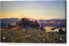 When The Land Belonged To God Acrylic Print by Charles Russell