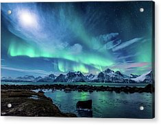 When The Moon Shines Acrylic Print by Tor-Ivar Naess