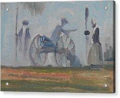 When The Smoke Clears Acrylic Print by Len Stomski