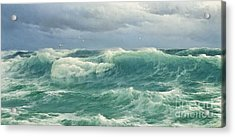 When The Wind Blows The Sea In Acrylic Print by Celestial Images