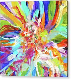 When They Dance ... Acrylic Print by Expressionistart studio Priscilla Batzell