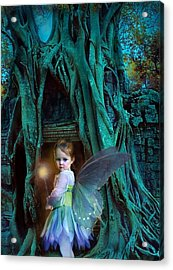 When Twilight Fades Acrylic Print by Jean Hildebrant