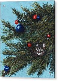Where Is Santa Acrylic Print by Anastasiya Malakhova