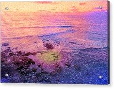 Where The Rainbow Starts Acrylic Print by Angela A Stanton