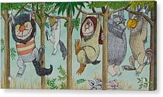 Where The Wild Things Are Acrylic Print by Mr Minor