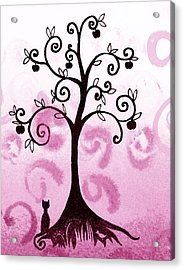 Whimsical Apple Tree Acrylic Print by Irina Sztukowski