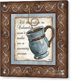 Whimsical Coffee 1 Acrylic Print by Debbie DeWitt