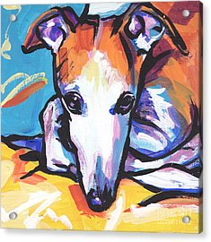 Whippet Love Acrylic Print by Lea S
