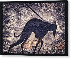 Whippet Silhouette Acrylic Print by John Clum