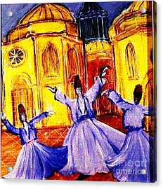 Whirling Dervishes 2 Acrylic Print by Duygu Kivanc