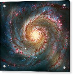 Whirlpool Galaxy  Acrylic Print by The  Vault - Jennifer Rondinelli Reilly