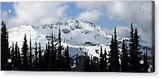 Whistler Mountain Peak View From Blackcomb Acrylic Print by Pierre Leclerc Photography