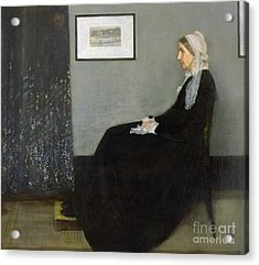 Whistlers Mother Acrylic Print by James Abbott McNeill Whistler