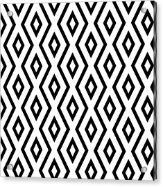 White And Black Pattern Acrylic Print by Christina Rollo