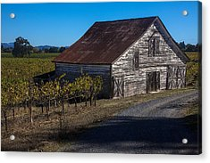 White Barn Acrylic Print by Garry Gay