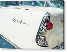 White Chevy Belair Classic Acrylic Print by Mike Reid