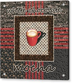 White Chocolate Mocha - Coffee Art Acrylic Print by Anastasiya Malakhova