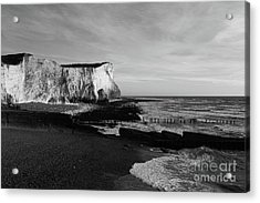 White Cliffs Of England At Seaford Head Acrylic Print by James Brunker