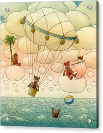 White Dream 02 Acrylic Print by Kestutis Kasparavicius