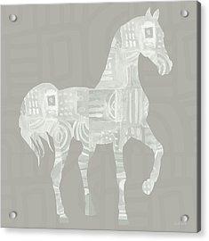 White Horse 1- Art By Linda Woods Acrylic Print by Linda Woods