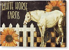 White Horse Farms Vermont Acrylic Print by Mindy Sommers