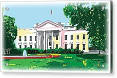 White House, Washington Dc Acrylic Print by Inge Lewis