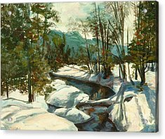 White Mountain Winter Creek Acrylic Print by Claire Gagnon
