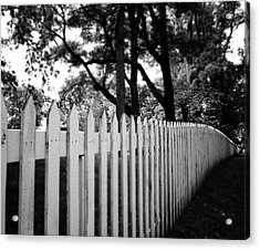 White Picket Fence- By Linda Woods Acrylic Print by Linda Woods