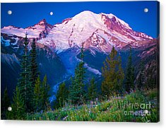White River Predawn Acrylic Print by Inge Johnsson