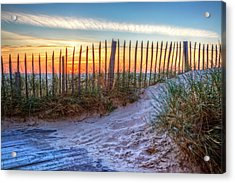 White Sands Acrylic Print by Debra and Dave Vanderlaan