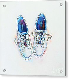 White Sneakers Acrylic Print by Willow Heath