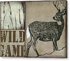 White Tail Deer Wild Game Rustic Cabin Acrylic Print by Mindy Sommers