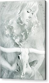 White Witch II Acrylic Print by Cambion Art
