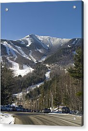Whiteface Ski Mountain From The Road In Upstate New York Near Lake Placid Acrylic Print by Brendan Reals