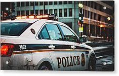 Whitehouse Police Car Acrylic Print by Mountain Dreams