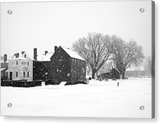 Whiteout At Strawbery Banke Acrylic Print by Eric Gendron