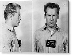 Whitey Bulger Mug Shot Acrylic Print by Edward Fielding