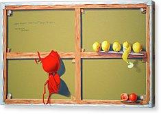 Whose Red Bra. Acrylic Print by Tautvydas Davainis