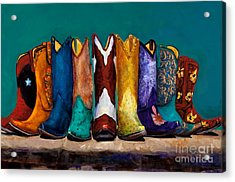 Why Real Men Want To Be Cowboys 2 Acrylic Print by Frances Marino