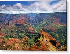Wiamea View Acrylic Print by Mike  Dawson