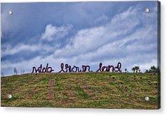 Wide Brown Land - Canberra - Australia Acrylic Print by Steven Ralser